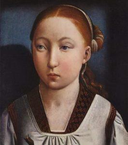 Portrait of Infanta, artist Juan de Flandes, approx. 1500