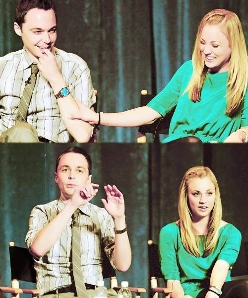 Jim Parsons and Kaley Cuoco