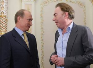 Lloyd Webber and Russian president Vladimir Putin