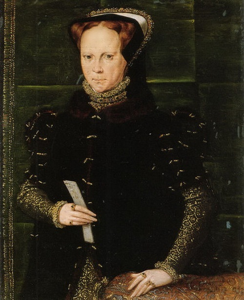 The daughter of Henry and Catherine, Queen Mary I. The artist Hans Ewouts, 1556-58