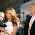 Donald, Melania and their son