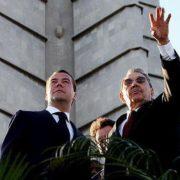 Castro and former Russian President Dmitry Medvedev