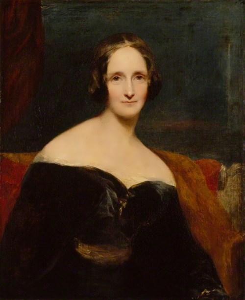Mary Wollstonecraft Shelley by Richard Rothwell