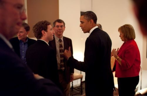 Barak Obama and Zuckerberg