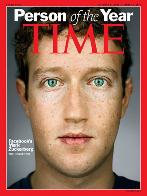 Zuckerberg on the cover of Time magazine