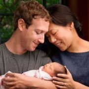 Zuckerberg, his wife and their daughter