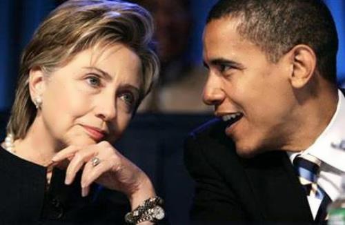 Hillary and Barak Obama
