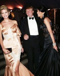 Ivanka, her father Donald Trump and her stepmother Melania Trump