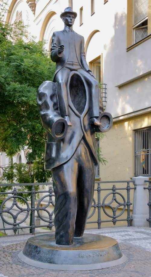 Monument to Franz Kafka by the sculptor Jaroslav Rona