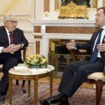 Henry Kissinger and Dmitry Medvedev