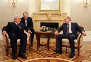 Henry Kissinger and Vladimir Putin
