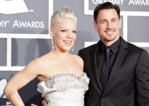 Pink and her husband Carey Hart
