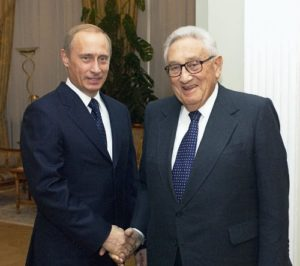 Henry Kissinger and Vladimir Putin