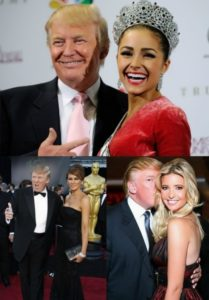 Trump and wonderful beauties
