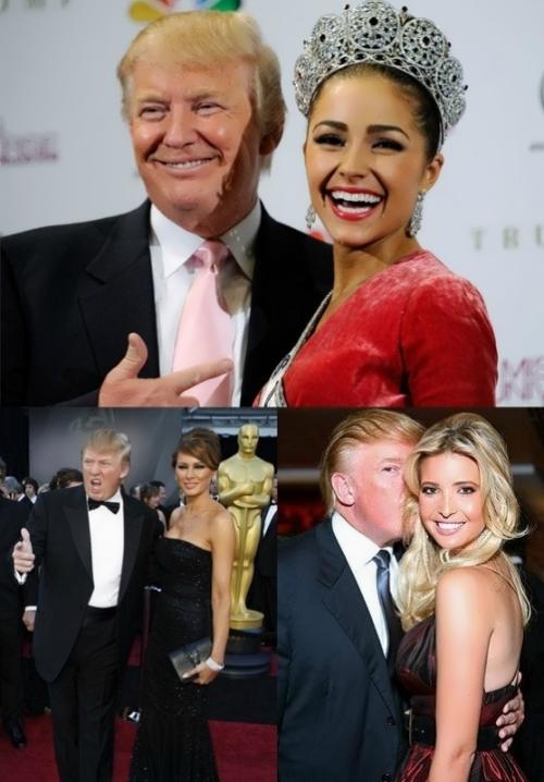 Trump and wonderful beauties