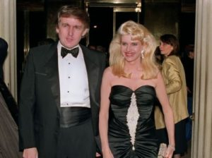 Trump with his first wife Ivana