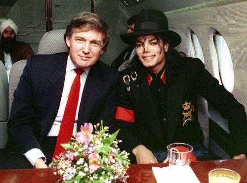 Trump and Michael Jackson