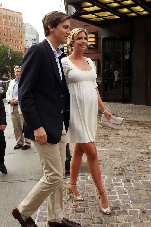 Pregnant Ivanka with her husband Jared Kushner
