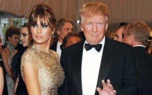 Trump and Melania Knauss