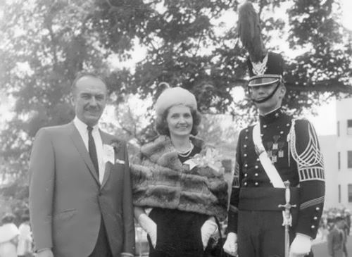 Trump with his parents in the New York Military Academy