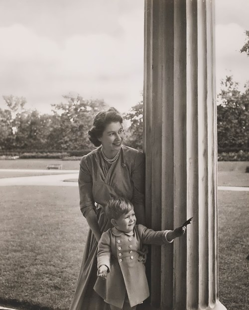 Princess Elizabeth and her son Prince Charles. September 1950