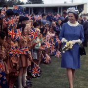 1970. Queen Elizabeth II during a visit to New Zealand