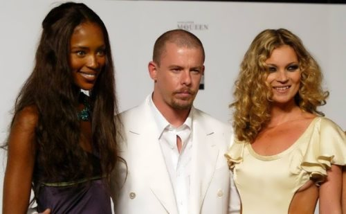 Naomi Campbell, Alexander McQueen and Kate Moss