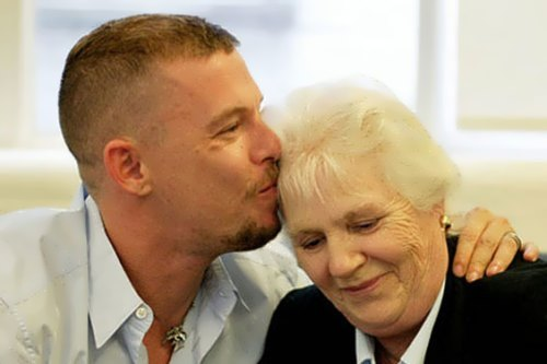 Alexander McQueen and his mother
