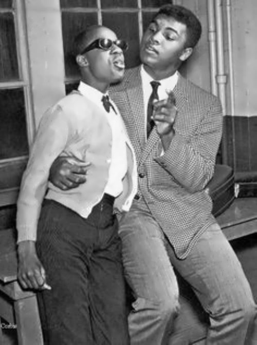 Little Stevie Wonder and Muhammed Ali