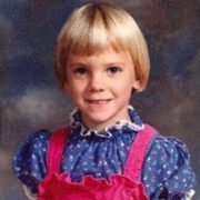 Anna Faris in her childhood