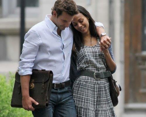 Bradley and Zoe Saldana