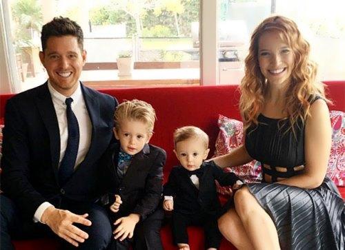 Michael Buble, Luisana Lopilato and their children