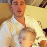 Michael Buble and his son