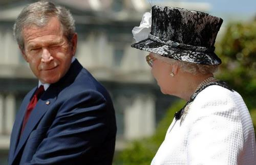 George W. Bush and Elizabeth II