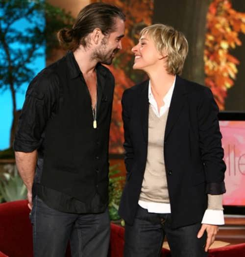 Colin Farrell and Ellen DeGeneres