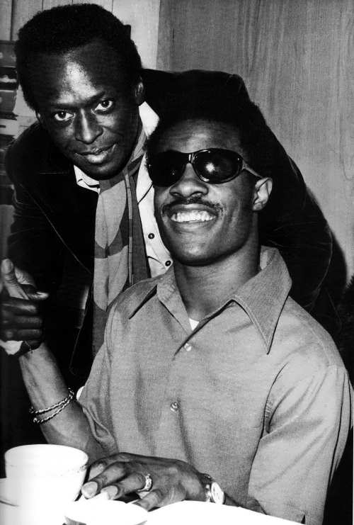 Miles Davis and Stevie Wonder