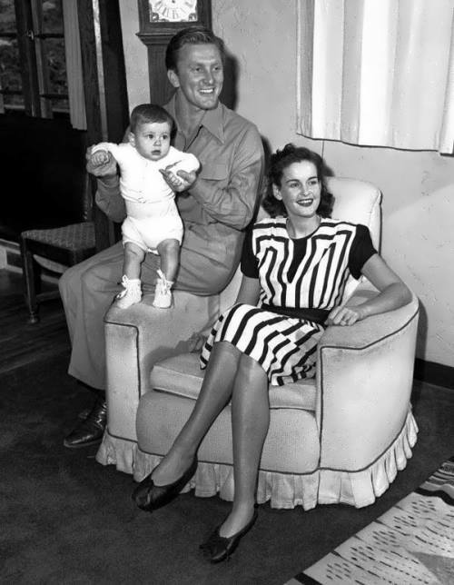 Kirk Douglas and Diana Dill