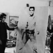 Dylan and portrait of Elvis Presley