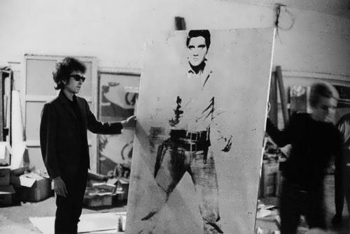 Dylan and portrait of Elvis Presley