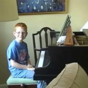 Ed Sheeran in his childhood