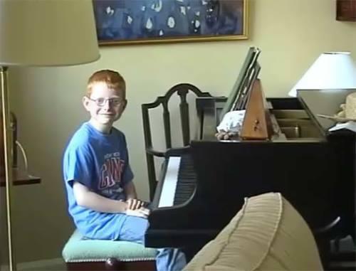 Ed Sheeran in his childhood