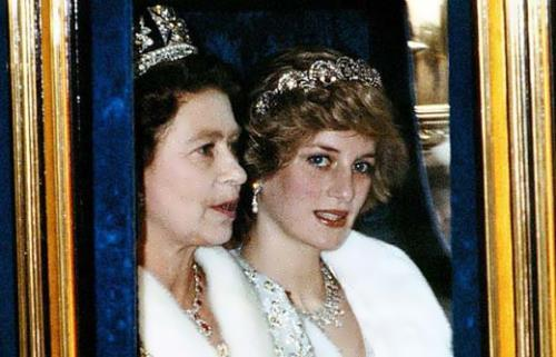 Elizabeth II and Lady Diana