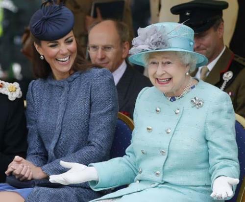 Kate Middleton and Elizabeth II