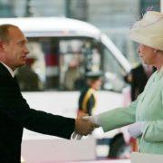 Elizabeth II and Russian president Vladimir Putin
