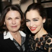 Emilia Clarke and her mother