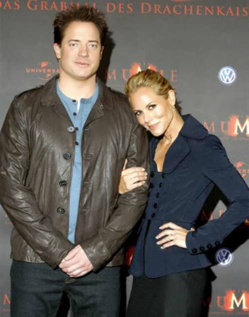 Brendan Fraser and Maria Bello