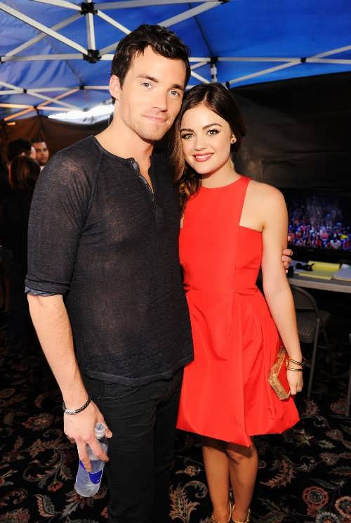 Lucy Hale and Freddie Stroma