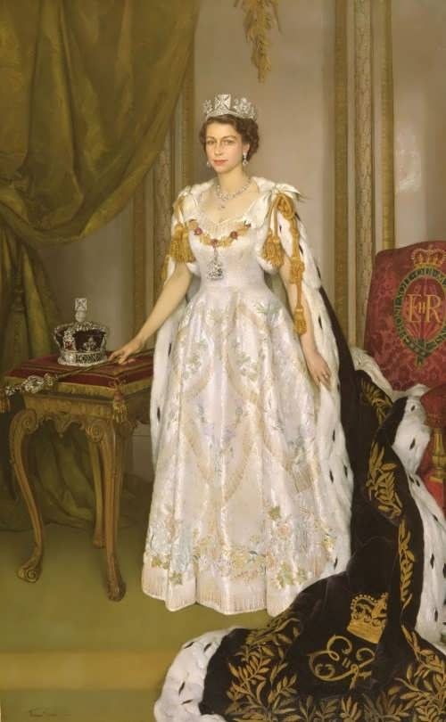 Herbert James Gunn. Coronation portrait of Queen Elizabeth II