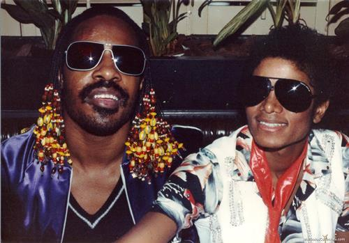 Michael Jackson and Stevie Wonder
