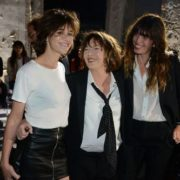 Jane Birkin and her daughters